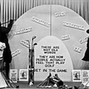 Window Display Of Golf Virtues Poster