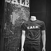 Window Display Sale In Black And White Photograph With Mannequin No.0129 Poster