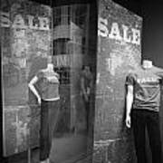 Window Display Sale With Mannequins No.1292 Poster