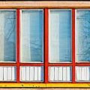 Window Of Soviet Building Poster