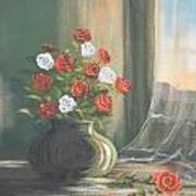 Window Roses Poster