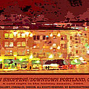 Window Shopping Holiday Season Poster