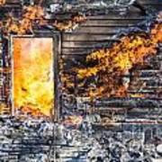 Window Thru The Depth Of Firey Fury Poster
