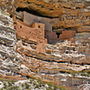 Window To The Past - Montezuma Castle Poster by Christine Till