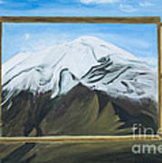 Window To The Popocatepetl A Mexican Volcano. Poster