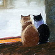 Window Watching Poster by Lenore Gaudet