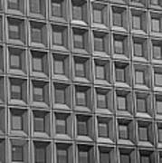 Windows In Black And White Poster