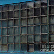 Windows In Blue Building Poster
