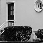 Windows In The Round In Black And White Poster