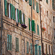 Windows In Tuscany Poster