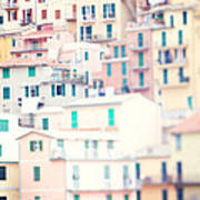 Windows Of Cinque Terre Italy Poster