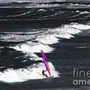 Windsurfing Man Poster