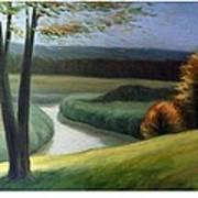 Windy Autumn Poster