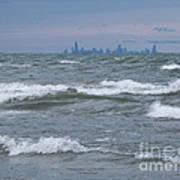 Windy City Skyline Poster