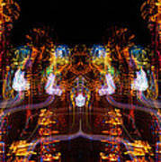 Windy Night Mirror Image Poster