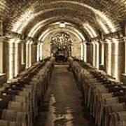 Wine Barrel Barrage Poster