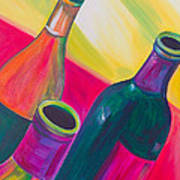 Wine Bottles Poster by Debi Starr