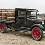 Wine Delivery Truck Poster