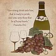 Wine For The Heart Poster