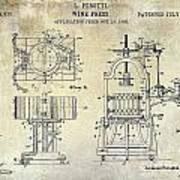 Wine Press Patent 1903 Poster