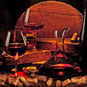 Wine Still Life Poster