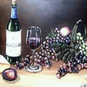 Wine Time Poster by Kimberly Blaylock