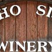 Winery Sign Poster