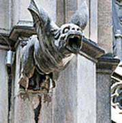 Winged Gargoyle Duomo Di Milano Italia Poster