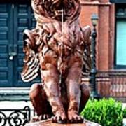 Winged Lion Fountain Poster