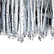 Winter Aspens  Poster by Michael Swanson