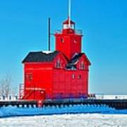 Winter At Big Red Poster