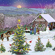 Winter At Campton Farm Poster