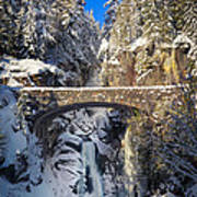 Winter At Christine Falls Poster