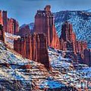 Winter At Fisher Towers Poster
