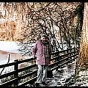 Winter At Frozen Lochside Poster