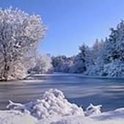 Winter At Lake Marmo Poster