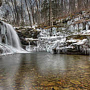 Winter At Lewis Falls Poster