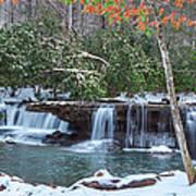 Winter At Mash Fork Falls Poster