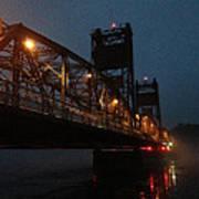 Winter Bridge In Fog 2 Poster