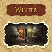 Winter Button Poster by Mike Savad
