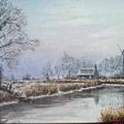 Winter By The River Poster