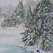 Winter Chill St Lawrence River Poster