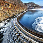 Croton Dam At Winter Poster