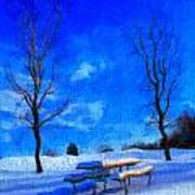 Winter Day On Canvas Poster