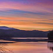 Winter Daybreak At Ocoee Lake Poster by Paul Herrmann