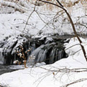 Winter Falls On Big Stone Lake Mn Poster