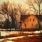 Winter Farhouse Poster