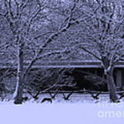Winter Geese Retreat Poster