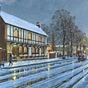 Winter Glow Parish Room Tickhill Yorkshire Poster
