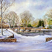 Winter In Ashford Poster by Andrew Read